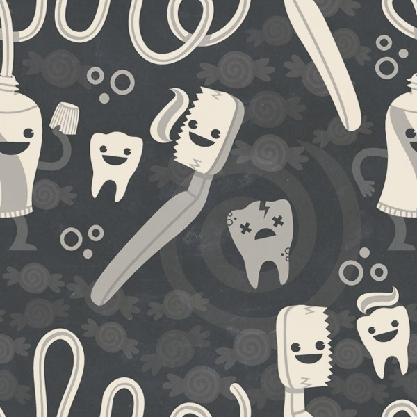 Dental Hygiene Pattern, Philip Tseng #philip #tseng #pattern #dentist