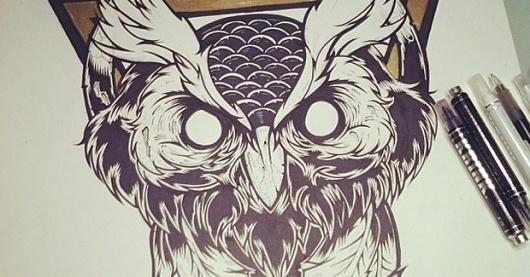 Hydro74 - Piety within Progression #hydro74 #illustration #wicked #owl