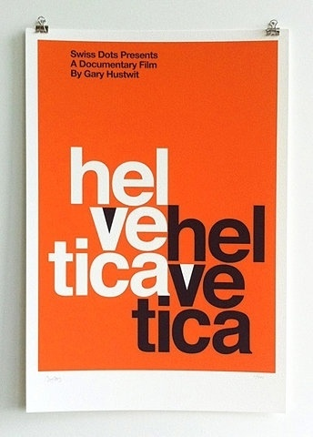 FFFFOUND! | Limited Edition Helvetica Poster | AisleOne #design #graphic