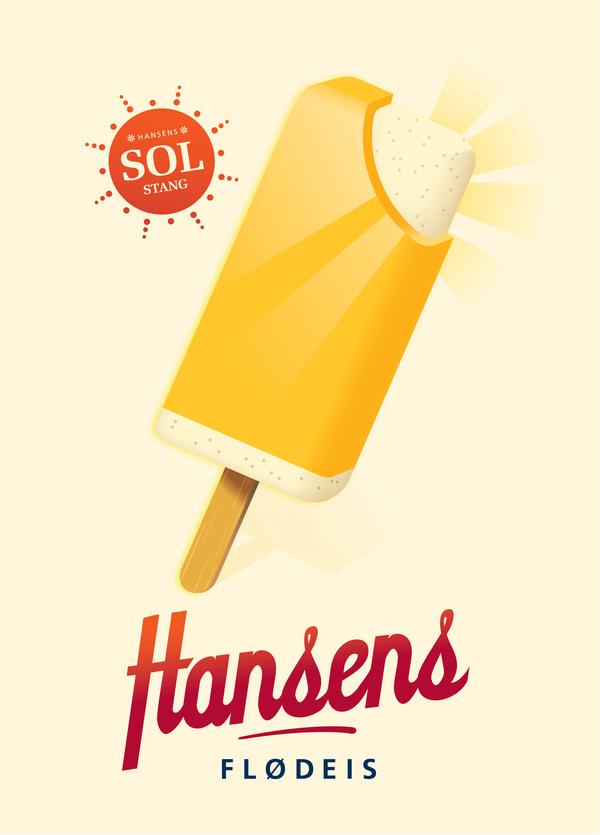 Hansen's Ice Cream #vetor #texture #+