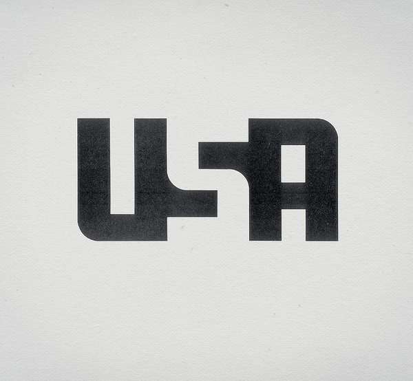 USA #negative #logo #space #typography