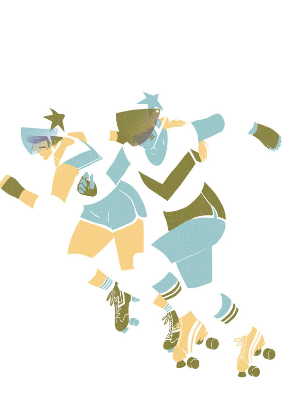 Roller derby series by Saint Kilda #roller #kilda #lola #girls #derby #beltrn #illustration #skate #saint