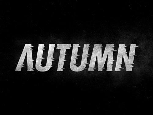 Typeverything.com - Autumn by Simon Ã…lander. - Typeverything #typography