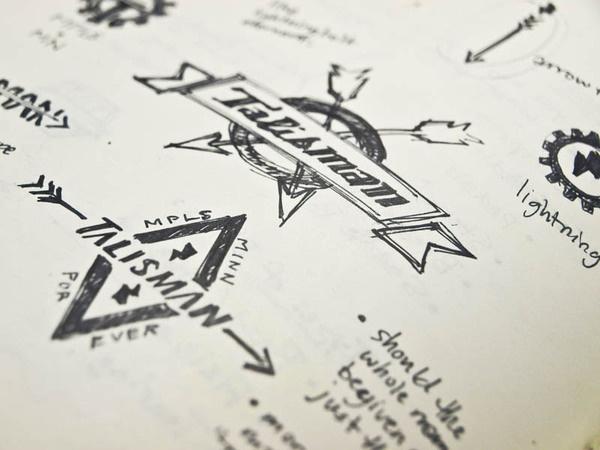 Talisman Bike Gear #bikes #branding #design #logo #sketch
