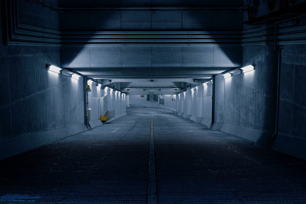 photo #ramp #garage #road #park #car #dark