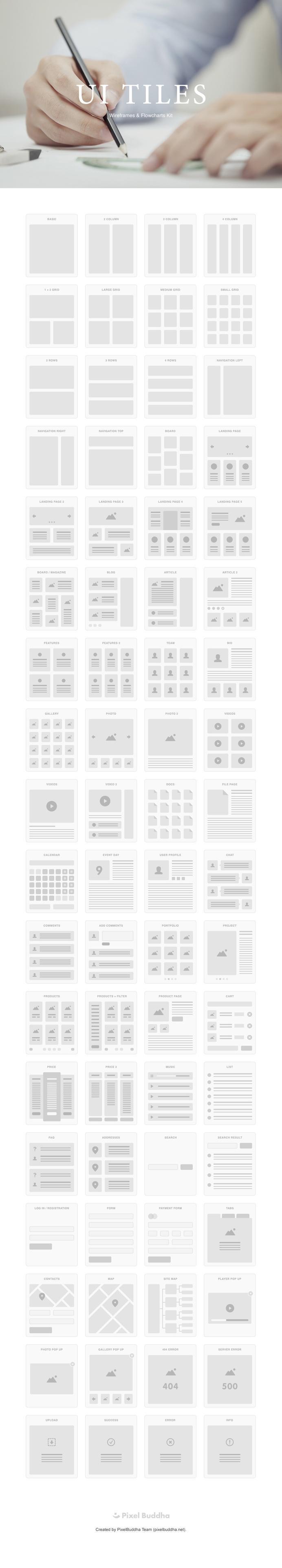 UI Tiles #web