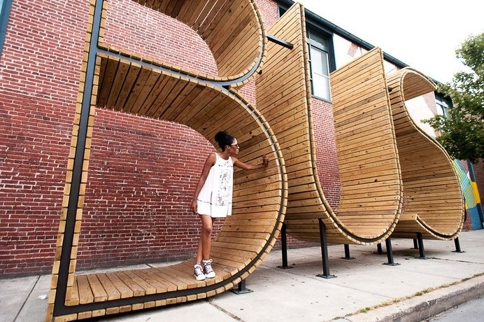 BUS stop in Baltimore - three huge letters - www.homeworlddesign. com (11) #bus #urban #design #station