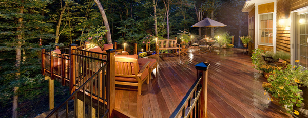 Rhode Island deck lighting by Outdoor Lighting Perspectives of RI #deck #lighting