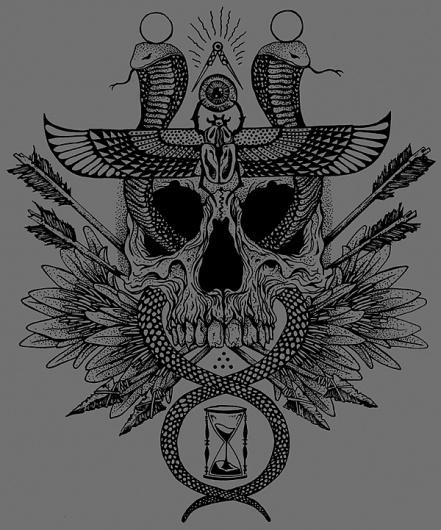 Jorden Haley: HULL // Sole Lord #haley #jordan #snake #illustration #hull #skull