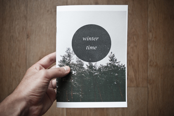 Winter time zine on Behance #zine #prints