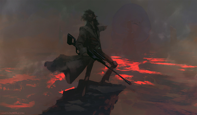 hiding place by jameszapata on deviantART #lava #concept #art #pit