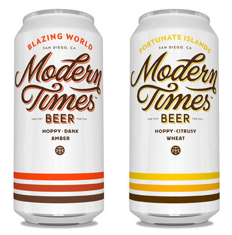 Modern Times Beer Cans #packaging #beer #cans