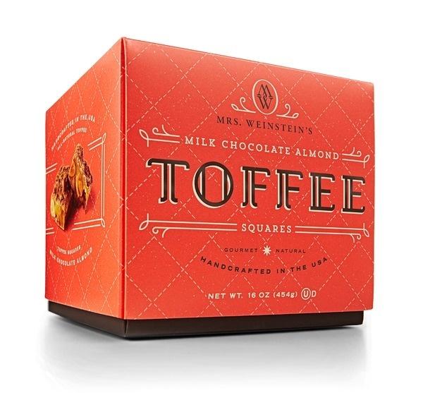Mrs. Weinstein's Toffee Box #packaging #candy #design