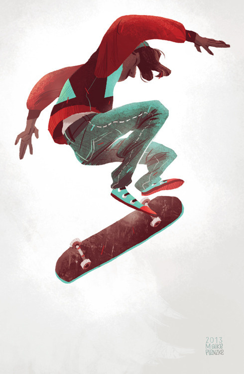 I had some time between work last week so I managed to practise drawing again. Elmo (our dog) was demanding a lot of my time when he was sma #skateboard #illustration #character