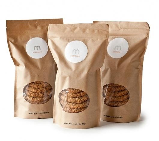 Milk MakersCookies - TheDieline.com - Package Design Blog #cardboard #clear #packaging #product #identity #milk #logo #makers #cookies