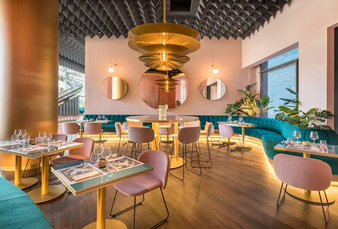 Chips Chairs Spread the Mood of the New Hall of the Hotel Barceló in Malaga - InteriorZine