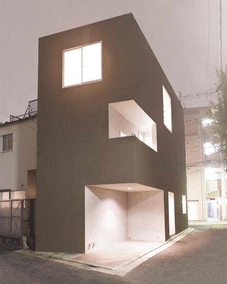 Shimouma House by Kazuya Saito Architects #void #solid #architecture #houses #facades