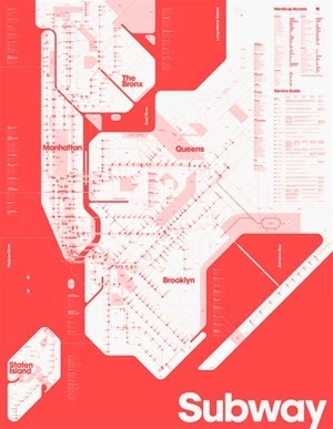 One Color Subway Map #map