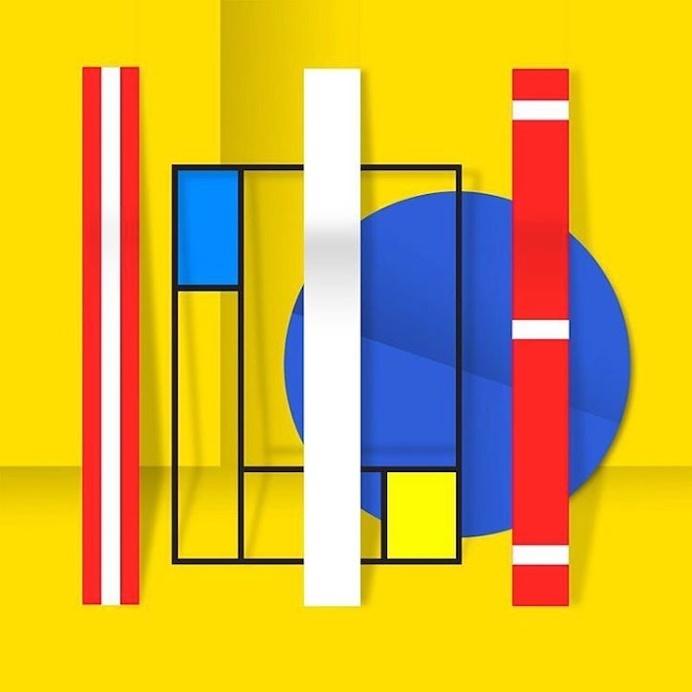 bright, colors, design, abstract, pattern, collage, art, Ruben Fischer
