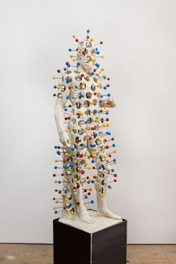 Nick van Woert #sculpture #chemical #classical #statue #balls