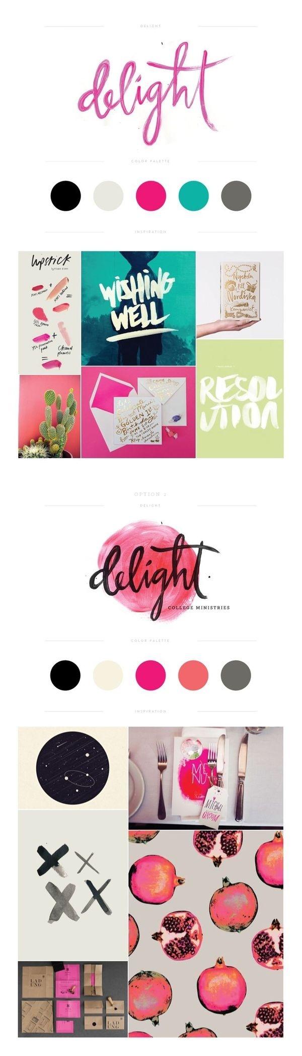 Delight Branding by Lauren Ledbetter Design & Styling #design #drawn #type #watercolor #hand