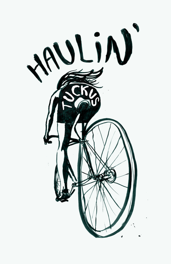 Haulin' Tuckus by Tommy Shimko #print #done #illustration #drawn #fun #hand #typography