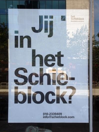 almost Modern : het Schieblock – Drukwerk #helvetica #poster #typography