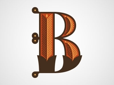 Dribbble - B by Chris Rushing #lettering #letters #typography #letterforms #type #dropcap