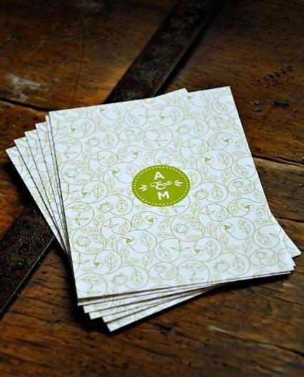 A&M Wedding : Matt Travaille : Graphic Design | Minneapolis #badge #pattern #invitation #monogram #wood #circle #wedding #green