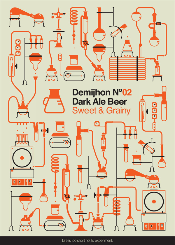 Demijhon No. 02 Beer, Ifat Zexer #beer #iconography #icons #chemistry #experiment