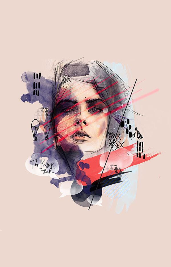 M I L E S A W A Y - Rosco Flevo #roscoflevo #album #designer #artscumantics #shapes #colors #postartfuckery #art #music #media #collage #mixed #female