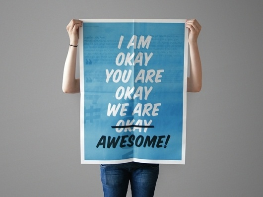 Anna Magnussen Graphic Design #kommunikation #skolen #for #poster #blue #visuel #awesome #typography
