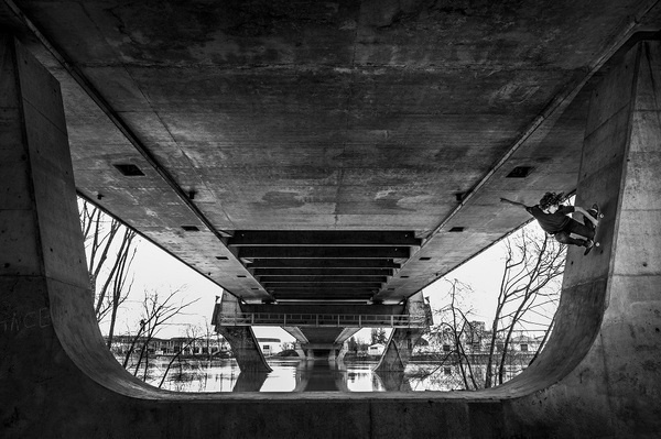 737 #skateboarding #mortagne #halfpipe #french #bridge #fred