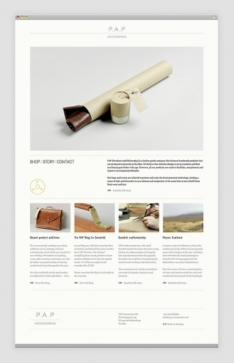 PAP Accessories on the Behance Network #website #design