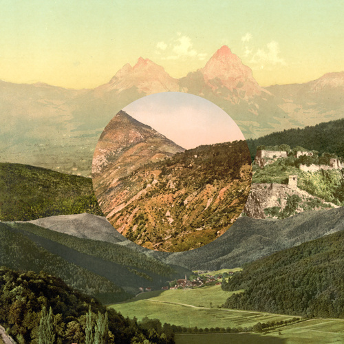 Rigid, A Collage Of Mixed Landscapes. In Collage
