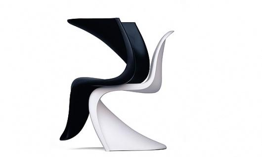 Panton Chair 50ème anniversaire: Design: Collage: Vitra.com #chair #ying #yang #panton