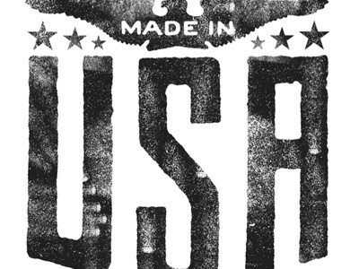 Dribbble - USA, USA, USA... by Tad Carpenter #screen #print #vintage #texture