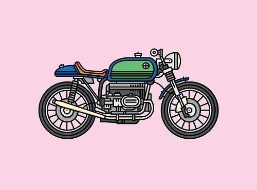 A Straight Cruiser #cruiser #bmw #illustration #bike #motorcycle
