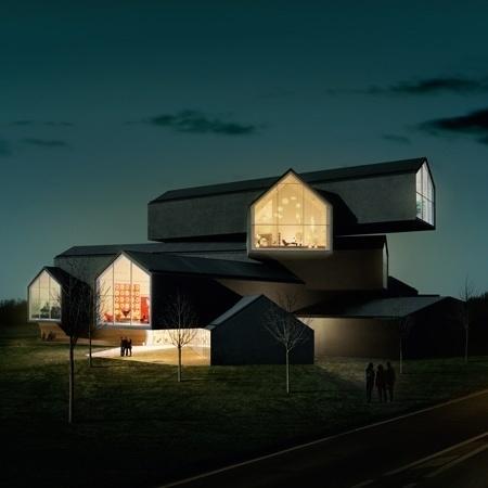 Dezeen » Blog Archive » VitraHaus by Herzog & de Meuron #vitra #archiecture