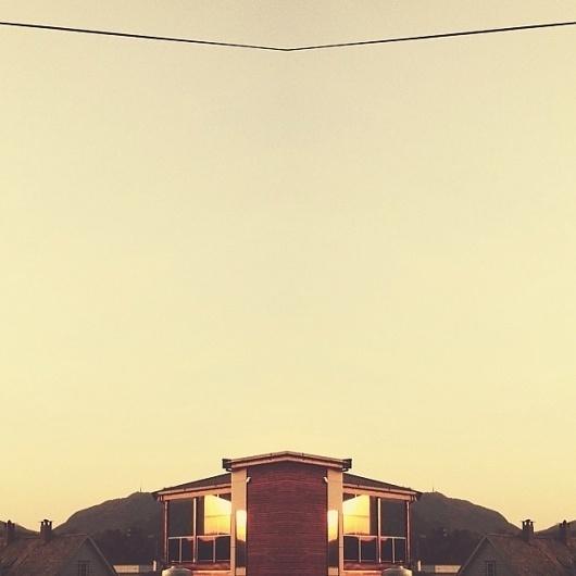 viewer-21.jpeg 612×612 pixels #urban #dusk #mirror #roof #sunset