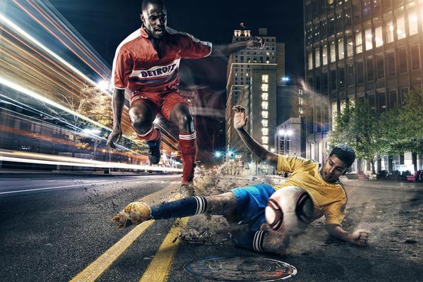 Beautiful digital art: Bring MLS to Detroit by Mike Campau #photo #retouching #soccer #manipulation #3d #futbol