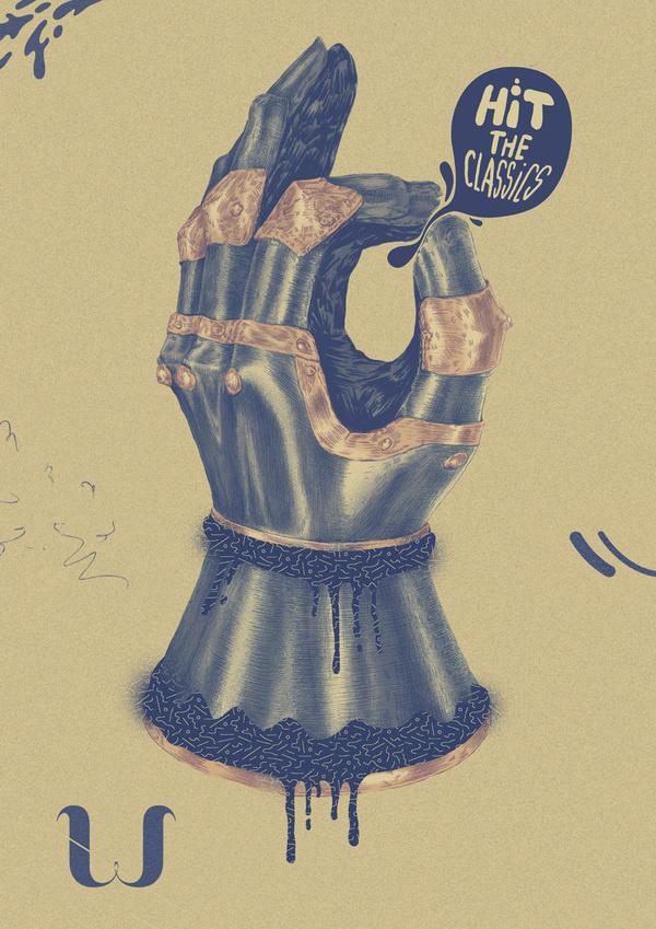 MIXED ILLUSTRATION by Valistika Studio BCN on the Behance Network #hand #knight #classics