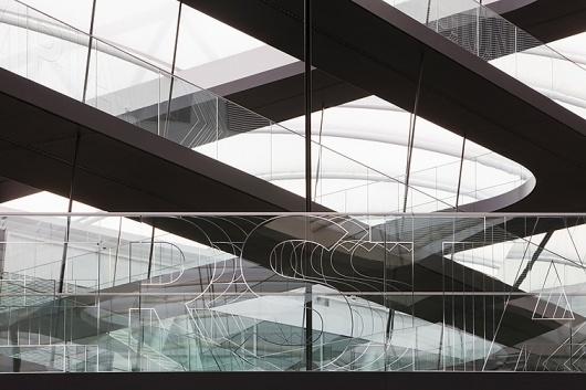 Adidas Laces 2011 | Büro Uebele | typetoken® #text #white #environment #black #wayfinding #space #typography
