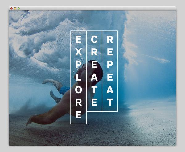 Explore. Create. Repeat. #website #layout #design #web