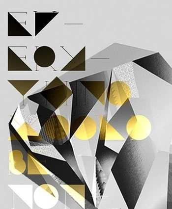 FFFFOUND! | What's new in design and the digital culture | Netdiver Magazine #yellow #shapes #geometric #gradient #typography