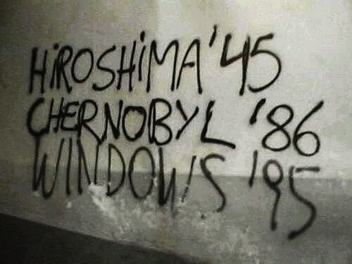 Here be Dragons #hiroshima #chernobyl #windows