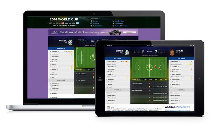 2014 CBSSports.com World Cup Match Tracker #match #world #tracker #interface #ui #soccer #football #brazil #cup #cbssports