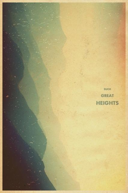 Garrett DeRossett | Work #old #heights #such #design #the #postal #light #service #vintage #poster #art #leak #great #mountains #typography