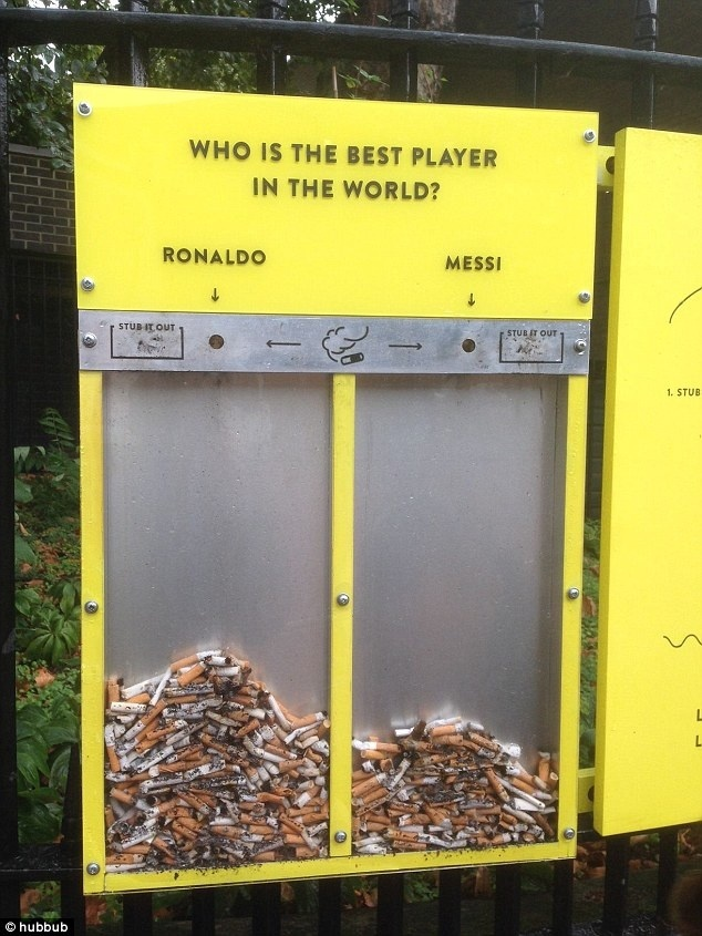 Voting ashtray by Hubbub #installation #participatory #interaction