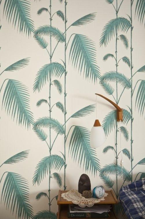Wallpaper Pattern #wallpaper #palms #green